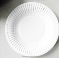 High quality safe food-grade round paper plates with printing pictures