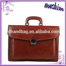 New Design Brown Briefcase Genuine Leather Office Bags Ladies Wholesale Handbag