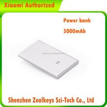 Xiaomi Popular Slim 9.9mm USB port 5000mAh Portable Mobile Power Bank