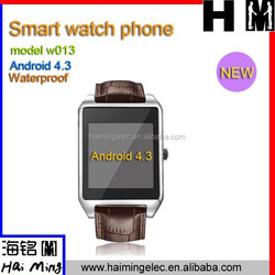2015 New arrival waterproof 1.6 inch Android 4.3 smart watch phone Model NO.W013