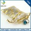 Wholesale 7X9cm Drawstring Mini Jewelry Pouch Bag,Organza Sachet Rose Printed Bag