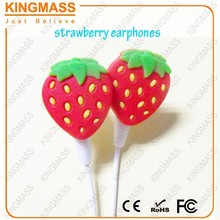 2015 Newest Strawberry MP3 earbuds free samples