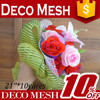 new products 2015 wrap material plastic flower wrap mesh