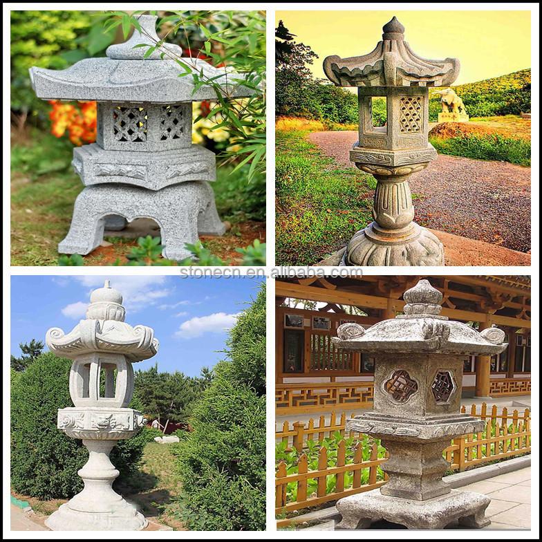 D cor jardin granit chinois japonais lanterne de pierre for Decoration jardin chinois