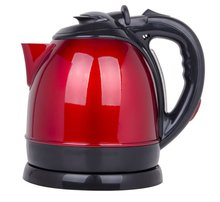 Red electric stainless steel kettle 1.5L