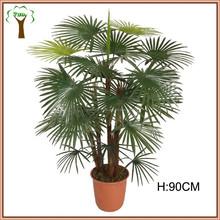 Mini artificial fan palm tree