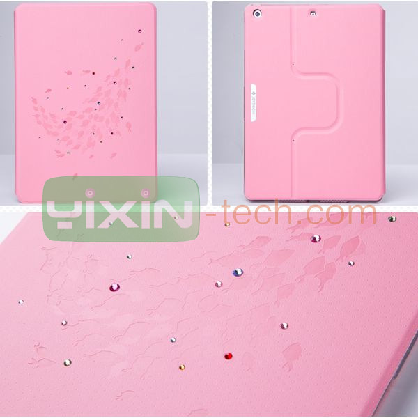 Fashion Bling Diamond Rotatable Case For ipad mini 2 case Leather Case