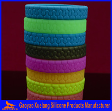 sample free personalized silicone rubber bracelets