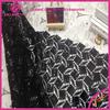 New Fashion Hot Dress Africa Black Sequin Velvet Lace Fabric For Dress