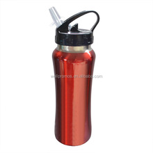 stainless steel bicycle water bottle with carrier and straw