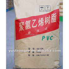 The K value K67 as well as qualified quality PVC resin SG5 in pvc pipe plastics