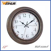 12 inch antique arabic numerals wall clock