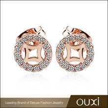 OUXI fashion handmade crystal daily wear indian party wear earrings