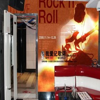 3D best customized Rock N Roll theme for pub and bar keep for long time indoor decoration plain wallpaper