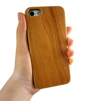 Natural Real Wood Hybrid Hard Back Cover Case For Apple iphone 5 5s