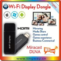 Hot! Best ipush miracast dongle/Good Quality mirror screen wireless wifi dongle miracast dlna support IOS 8/Android 4.4.2
