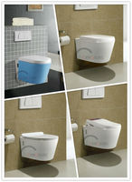 CE approved! A-GRADE HOT SALE WALL HUNG TOILET! Classic Vitreous China Sanitary Ware Wall Hung Toilet for wholesale/OEM