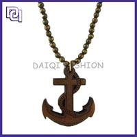 Jewelry Design Fashion Custom Good Wood Necklace,Cross And Arrow Shape Pendant Wood Necklace Hip Hop