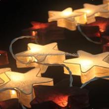 Eco-friendly paper star lantern string garland fairy light
