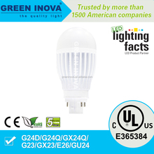 5 years warranty cULs E365384 7w G24 LED PL light bulb