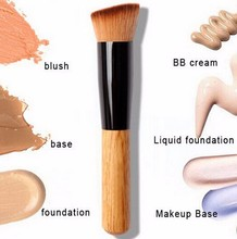 1Pcs Multi-Function Pro Makeup Brushes Powder Concealer Blush Liquid Foundation Make up Brush Set Wooden Kabuki Brush Cosmetics