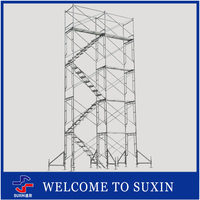 SUXIN Brand hot dip galvanized mobile scaffolding platform used for construction scaffolding stabilizer