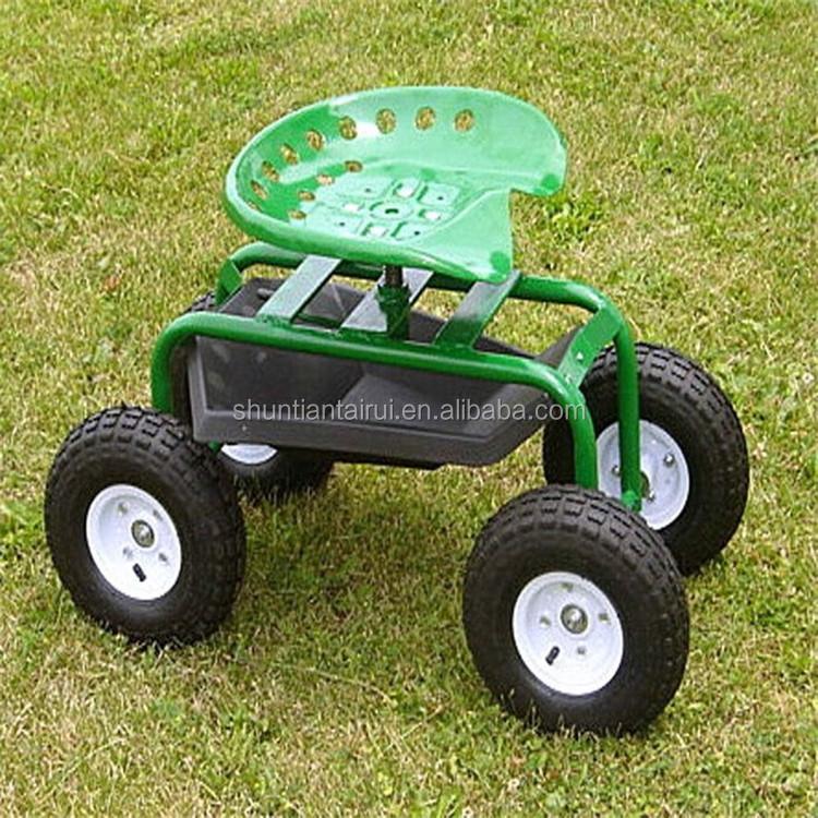 Tractor Steerable Rolling Garden Cart Work Seat With Tool Buy Rolling Garden Seat Garden Work