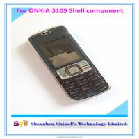 Black Full Housing Cover + Keypad for Nokia 3109 Mobile Phone Repair Parts