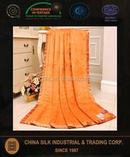 plain dyed pure silk throw blanket