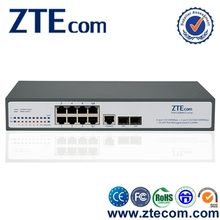 ZTEcom 10 ports Excellent Power Saving Managed Ethernet Switch with 8 Ports PoE