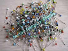 Extra-Fine Silk & Veil Glass Head Pin in Assort Color