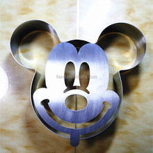 2015 New Design Hot Sale Mickey Mouse shaped Stainless Steel cake mould