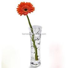 fashion decorative crystal glass flower vase for wedding decoration