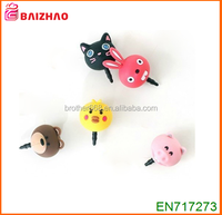 whosale new Fashion PVC ABS Silicone Vinyl anti dust plug ,custom mobile phone accessories