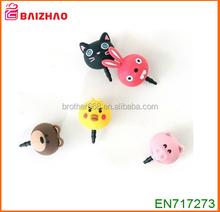 whosale new Fashion PVC ABS Silicone Vinyl anti dust plug ,custom mobile phone accessories