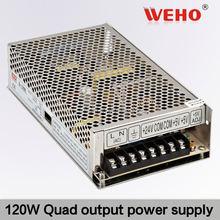 current voltage protection 120W Quad output switching 5V 12V 24V -12V power supply