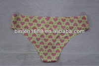Seamless Love Figure Print One Piece Thong Underwear For Women