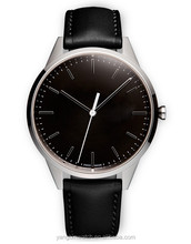 Elegance simple design stainless steel genuine leather starp high quality fashionable vogue watch