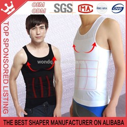 Nylon Thin Seamless Mens Tank Top Gym Singlets Waist Cincher Tank Tops Y174