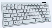 Shenzhen manufacturer supply ultra Slim Mini 2.4g wireless keyboard for laptop PC desktop