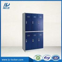 digital lock 6 door metal locker cabinet