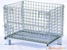 Folding steel warehouse storage cage