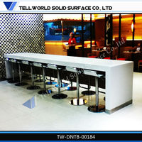 Hot sale modern concise KFC style dining table restaurant furniture,acrylic solid surface