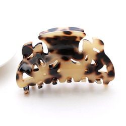 Guangdong manufacturer Wholesales acetate acetic acid turtle shell color hair jaw claw clip clamp