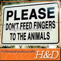 safety metal warning animal yard signs