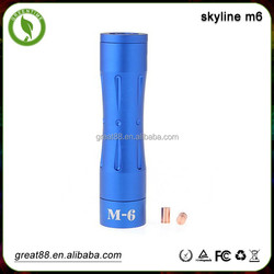 Hot selling 18650 Mechanical mod skyline m6 & m1 m2 m3 m4 m5 1:1 mod clone
