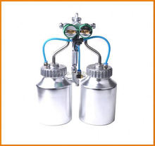 Ningbo 2015 hot on sales american companies looking for distributors chrome paint double nozzle gun