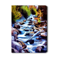 Modern hand decorated waterfall landscape oil painting