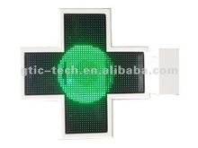 3D green LED Pharmacy cross