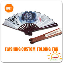 Unique Chinese handmade silk led craft hand fan